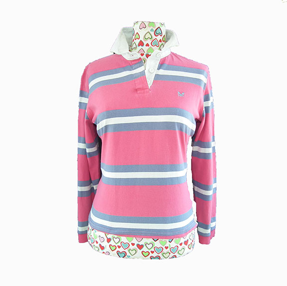 Ladies Crew Clothing Co Rugby Shirt Polo Shirt Long